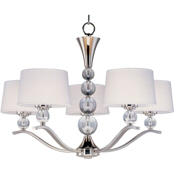 Maxim Rondo 5-Light Chandelier in Polished Nickel