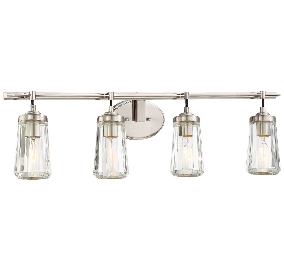 Minka Lavery Poleis 4 Light Bathroom Vanity Light In Brushed Nickel Lightsonline Com