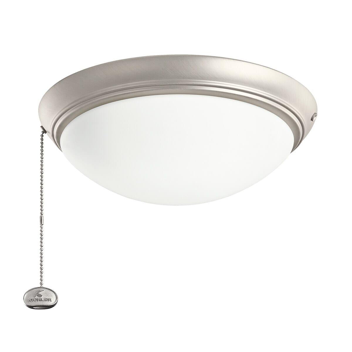 Kichler Accessory Low Profile Led Ceiling Fan Light Kit In Brushed Nickel Lightsonline Com
