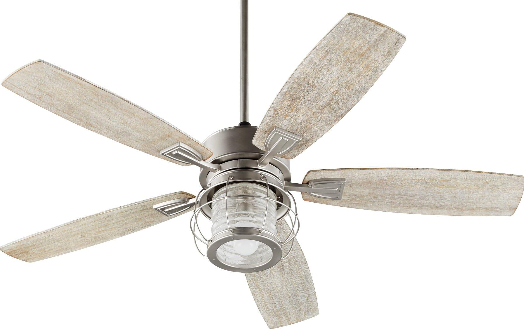 Quorum Galveston 52 Indoor Ceiling Fan In Satin Nickel Lightsonline Com