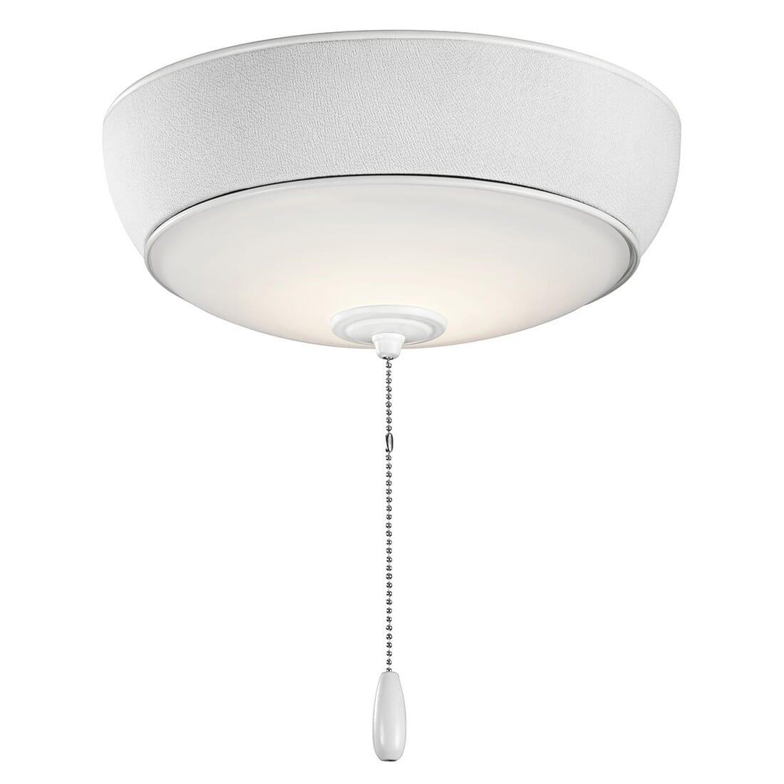 Kichler 13 Led Bluetooth Audio Ceiling Fan Light Kit In Matte White Lightsonline Com