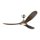 Monte Carlo 3MAVR60BS Maverick 60-inch Outdoor Ceiling Fan with Remote Control, Brushed Steel