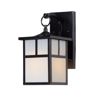 Maxim Coldwater Mission Outdoor Wall Lantern in Black