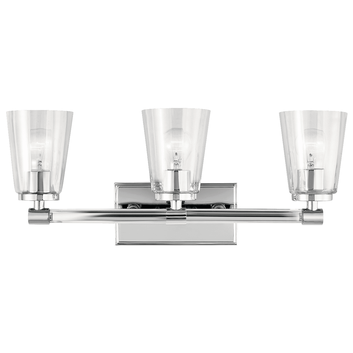 Kichler Audrea Bathroom Vanity Light 3 Light In Chrome Lightsonline Com