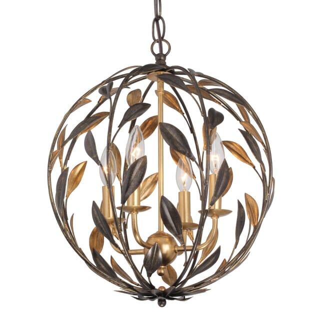 Crystorama Broche 4 Light Mini Chandelier In English Bronze Lightsonline Com