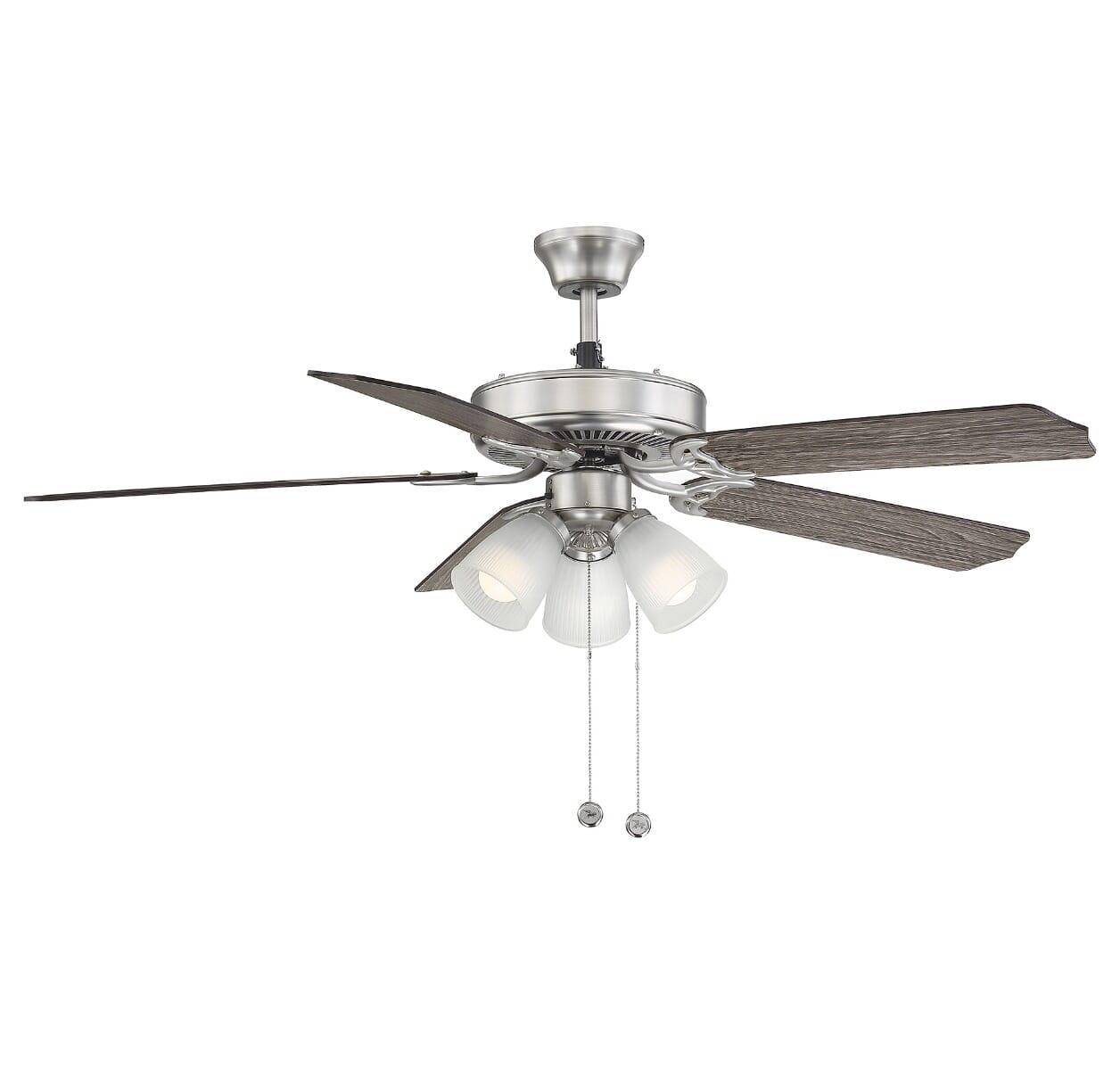 Savoy House First Value 52 3 Light Ceiling Fan In Satin Nickel Lightsonline Com