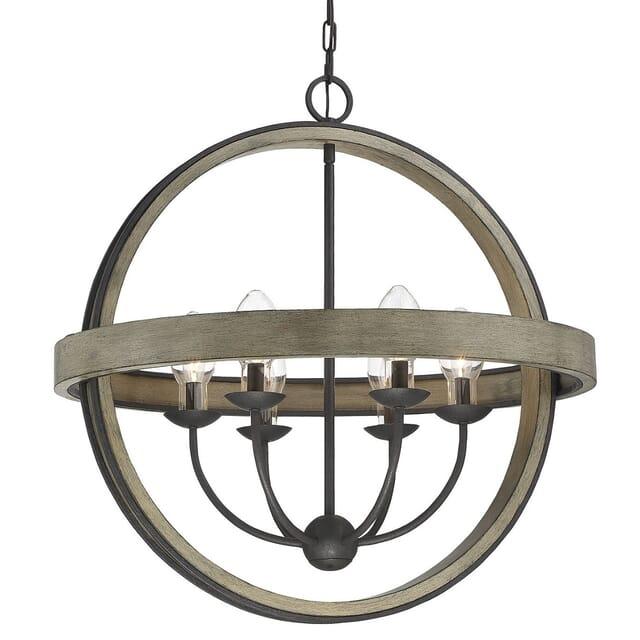 Savoy House Westport Rustic 6 Light Outdoor Chandelier In Weathervane Lightsonline Com