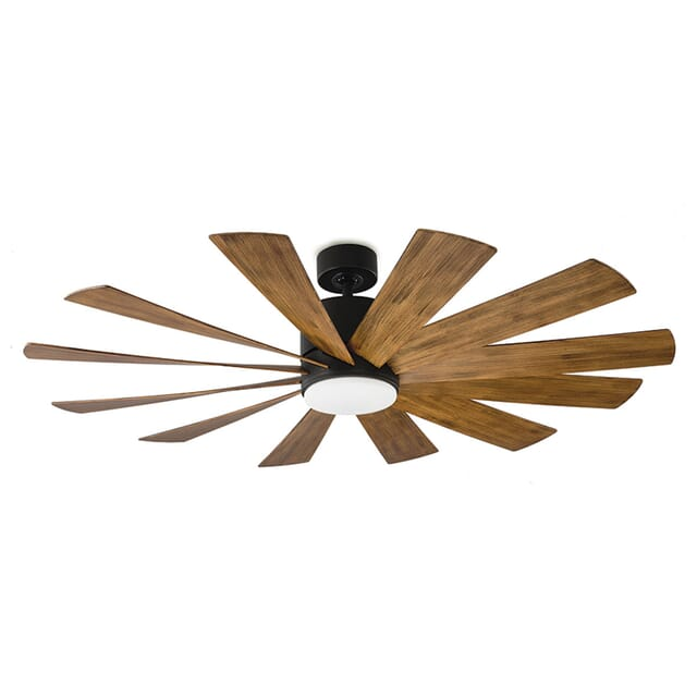 Modern Forms Windflower Outdoor 1-Light LED 60-inch Ceiling Fan in Matte Black