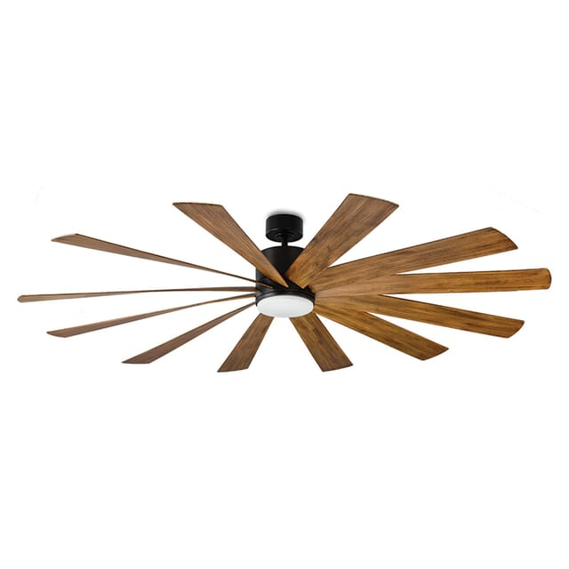 Modern Forms Windflower Outdoor 1-Light LED 80-inch Ceiling Fan in Matte Black