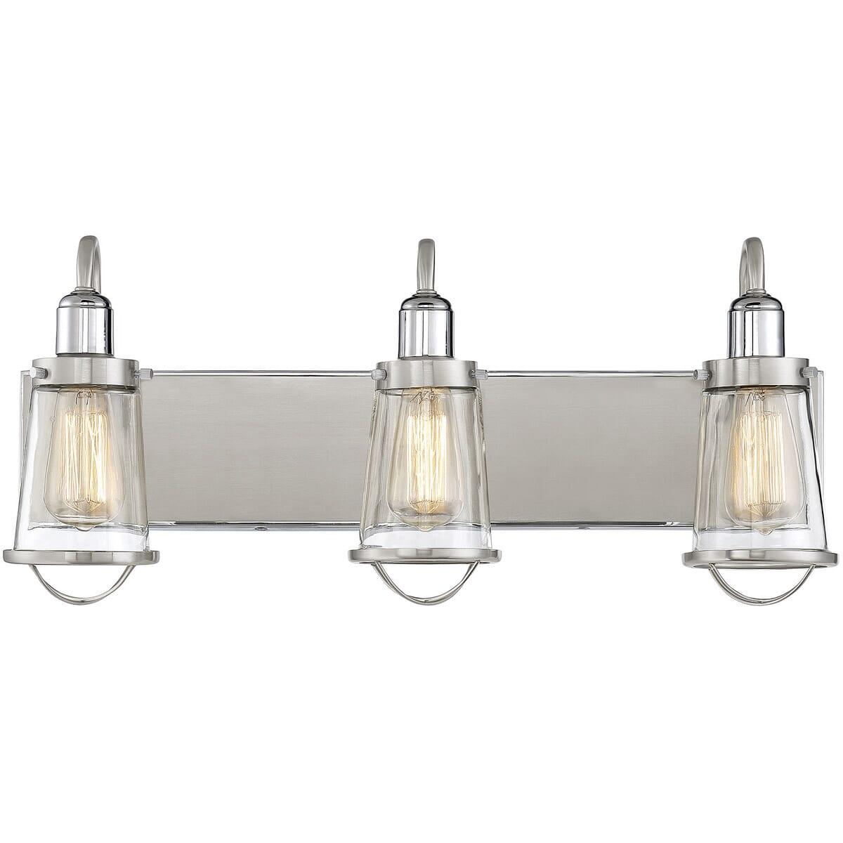 Savoy House Lansing 3 Light Bathroom Vanity Light In Satin Nickel Lightsonline Com