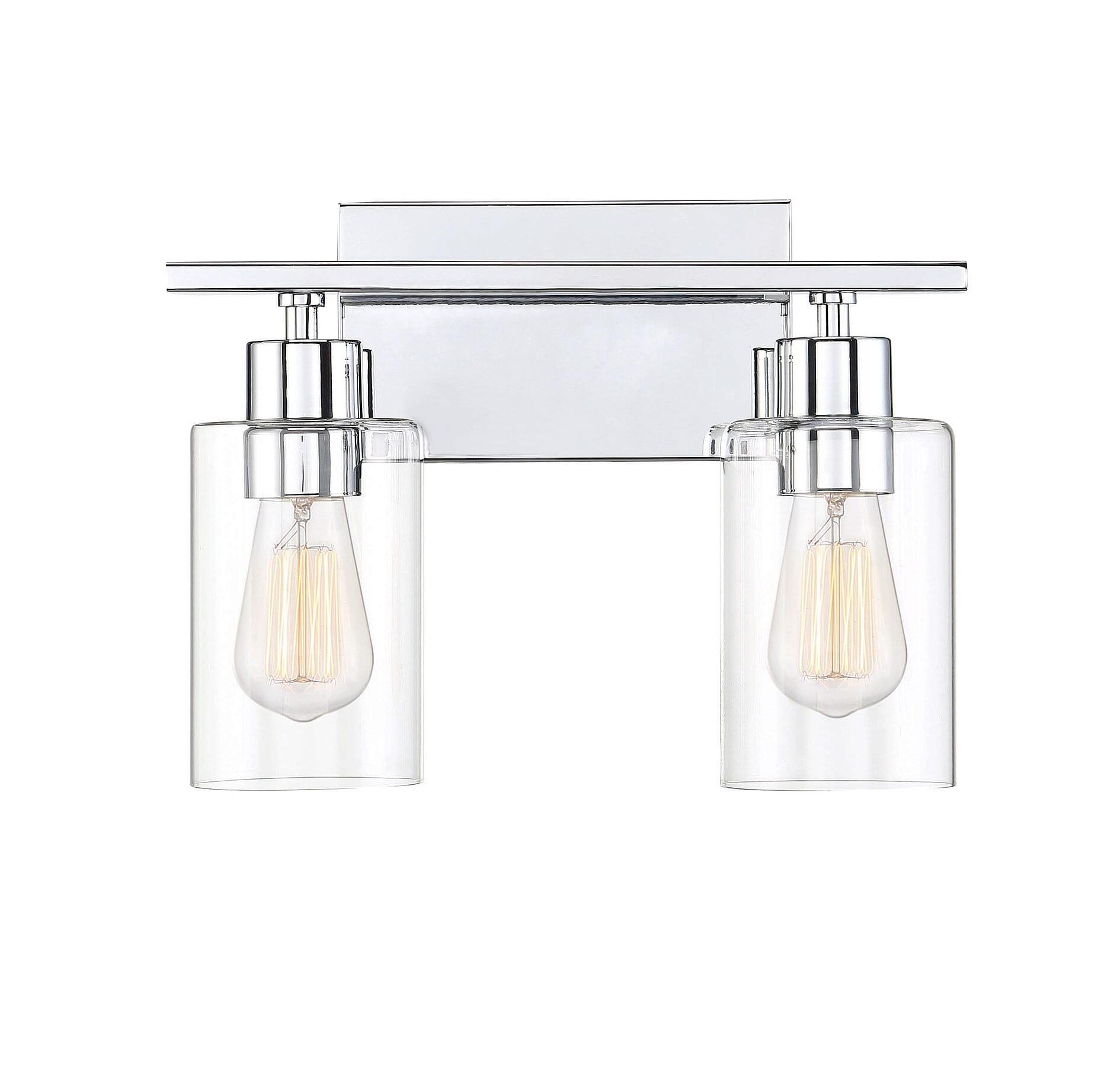 Savoy House Lambert 2 Light Bathroom Vanity Light In Polished Chrome Lightsonline Com