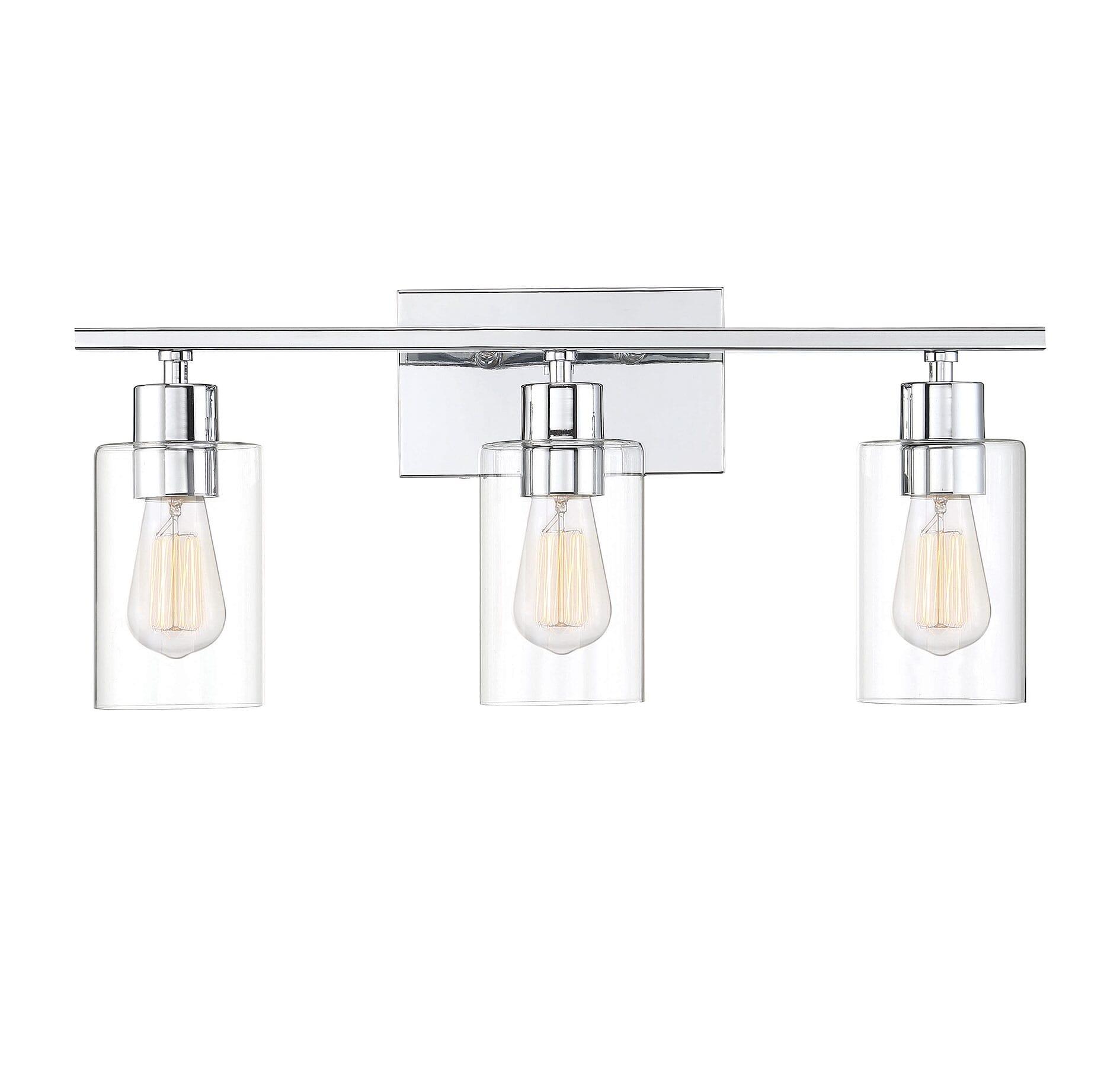 Savoy House Lambert 3 Light Bathroom Vanity Light In Polished Chrome Lightsonline Com