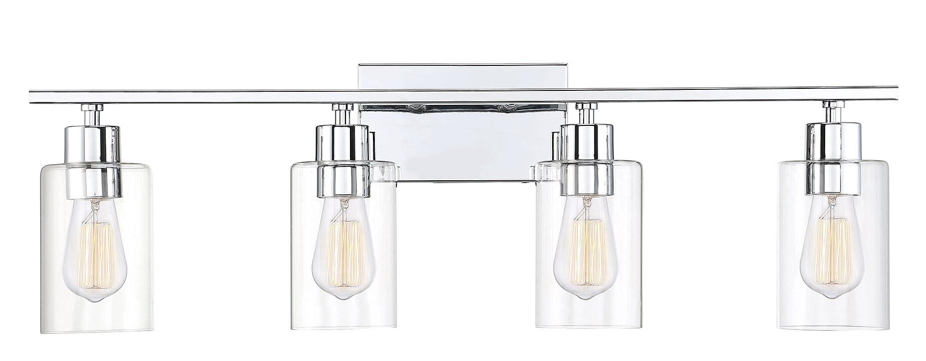 Savoy House Lambert 4 Light Bathroom Vanity Light In Polished Chrome Lightsonline Com