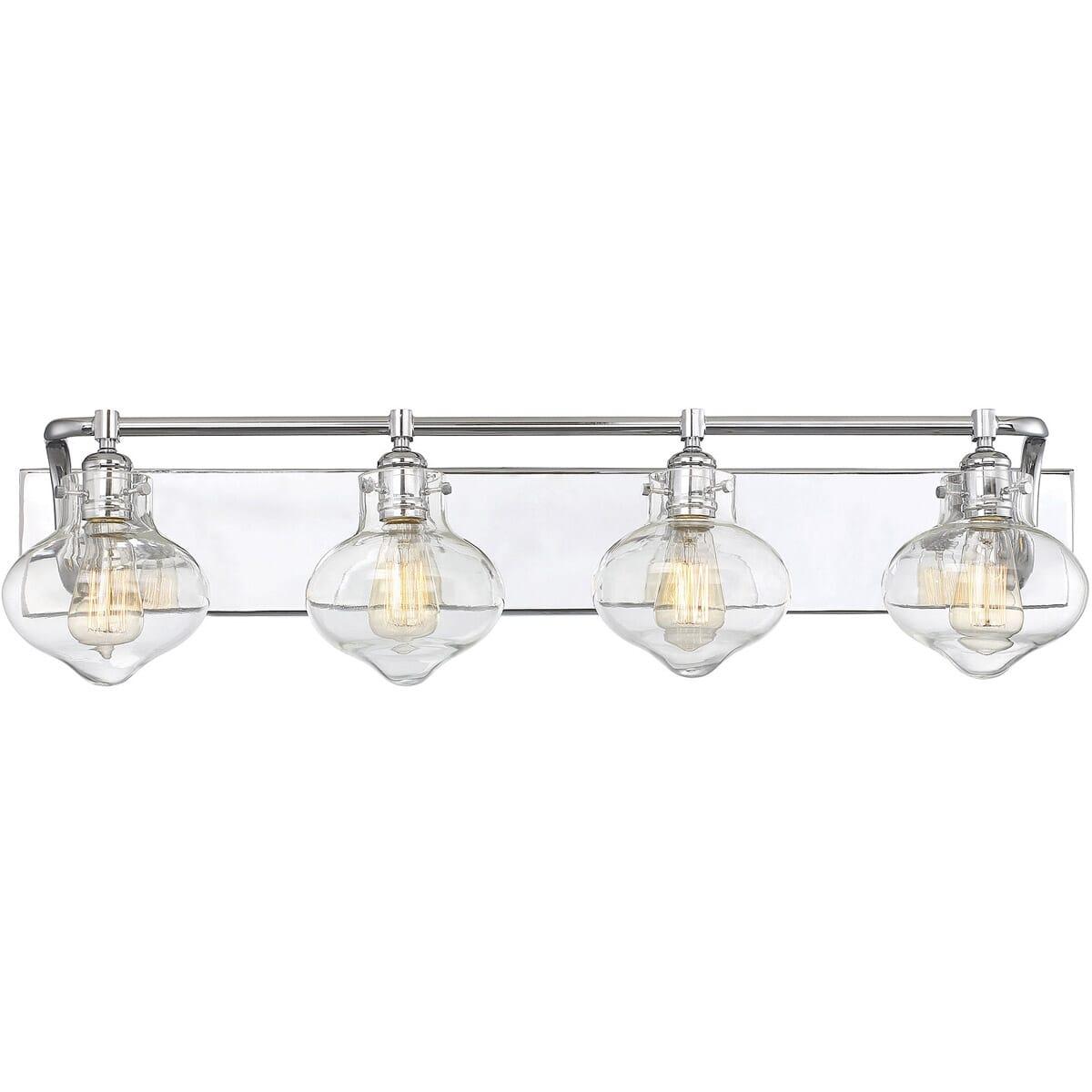 Savoy House Allman 4 Light Bathroom Vanity Light In Polished Chrome Lightsonline Com