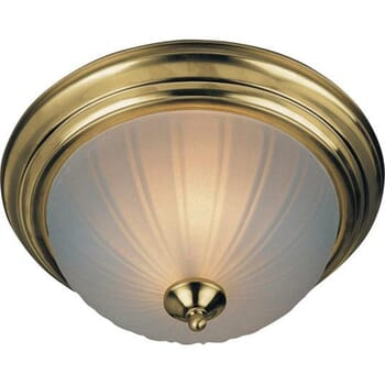 Maxim EE 3-Light Flush Ceiling Light in Polished Brass