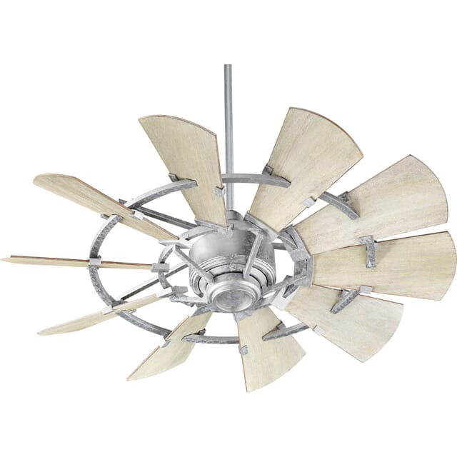 Quorum Windmill 44-inch Indoor Ceiling Fan in Galvanized