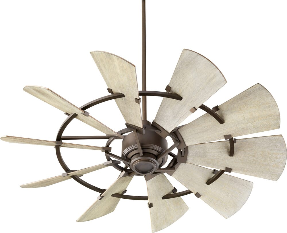 Quorum Windmill 44-inch Indoor/Outdoor Ceiling Fan in Oiled Bronze