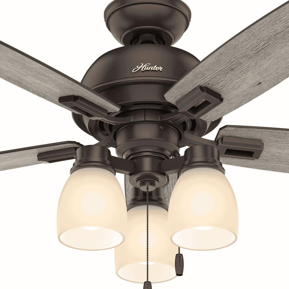 "Hunter Donegan 3-Light 44"" Indoor Ceiling Fan in Onyx Bengal"