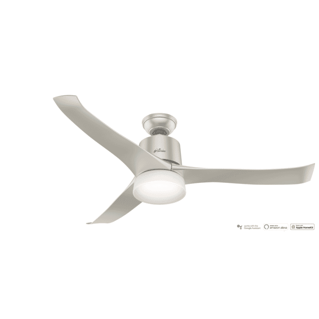 Hunter Symphony 2-Light 54-inch Indoor Ceiling Fan in Matte Nickel