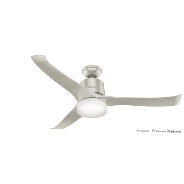 Hunter Symphony 2-Light 54-inch Indoor Ceiling Fan in Matte Nickel