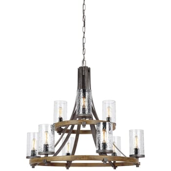 Feiss Angelo 9-Light Modern Farmhouse Chandelier