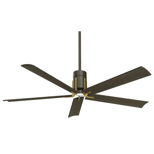 Minka Aire Clean Led 60 Ceiling Fan In Oil Rubbed Bronze With Toned Brass Lightsonline Com