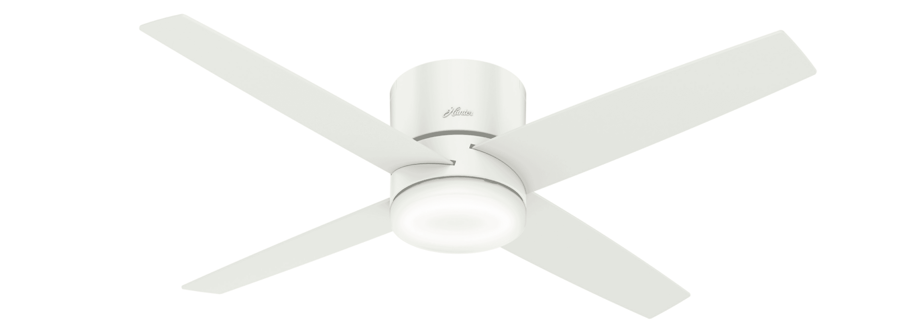 Hunter Fans Advocate Low Profile 54 Indoor Ceiling Fan In Fresh White