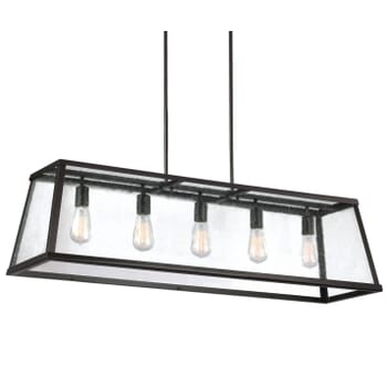 Feiss Harrow 5-Light Linear Chandelier in Oil Rubbed Bronze