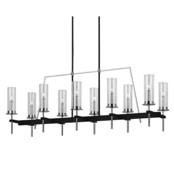 Feiss Broderick Black Linear Chandelier