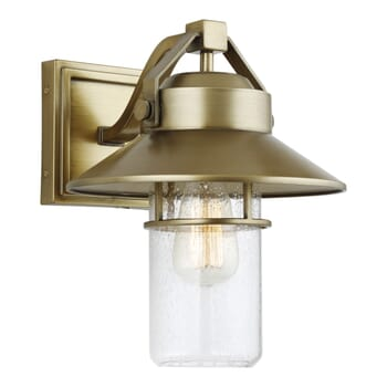 "Feiss Boynton 13"" Outdoor Wall Light in Painted Distressed Brass"