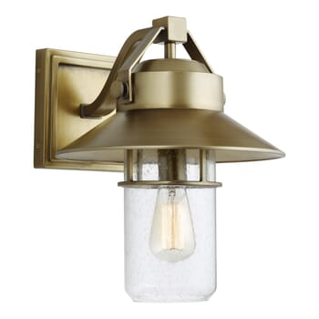 "Feiss Boynton 15"" Outdoor Wall Light in Painted Distressed Brass"