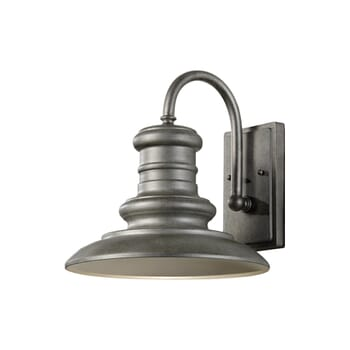 Feiss Redding Station LED Outdoor Wall Light in Tarnished Silver