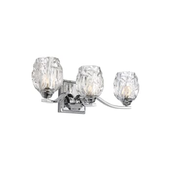 "Feiss Kalli 3-Light 20"" Bathroom Vanity Light in Chrome"