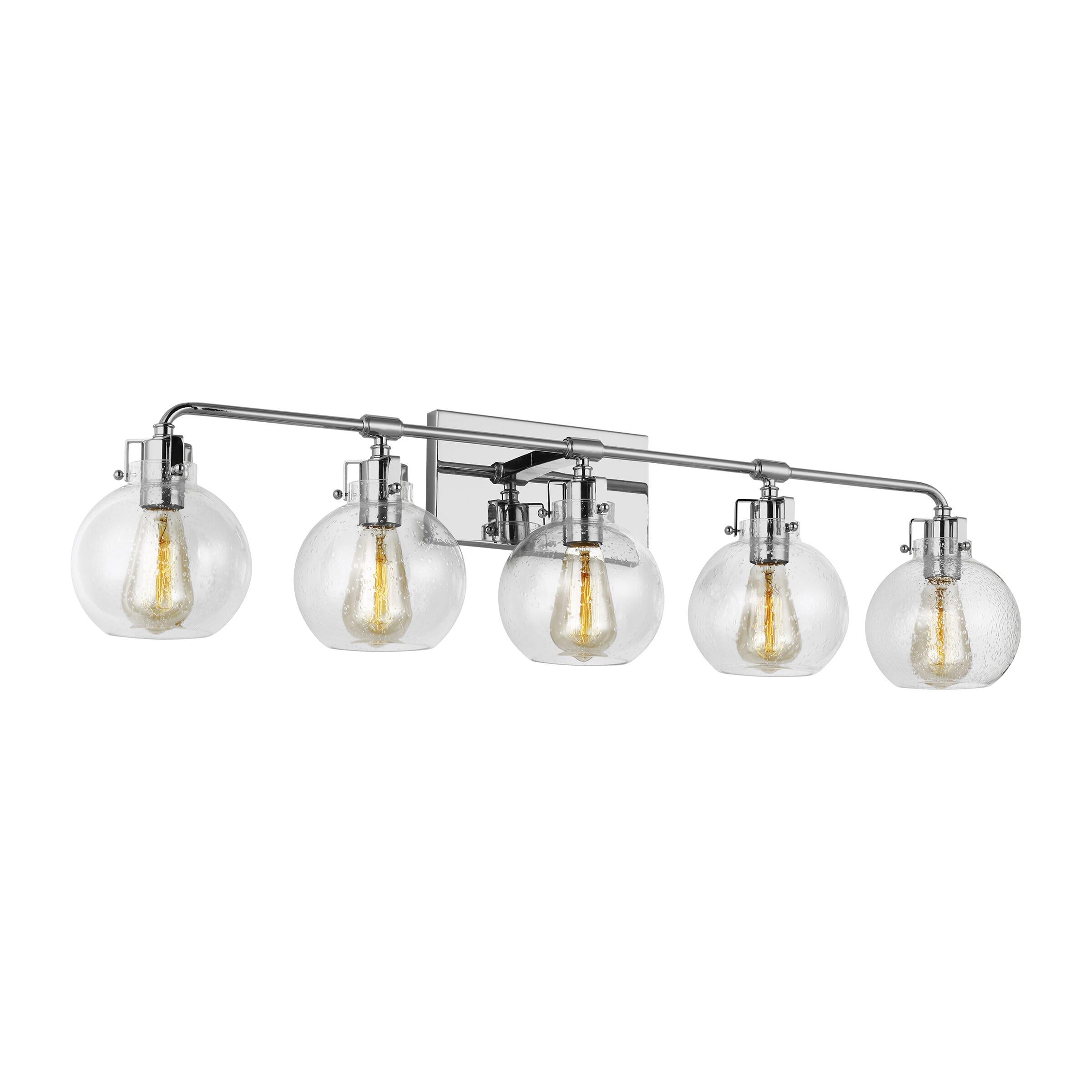 Feiss Clara 5 Light Bathroom Vanity Light In Chrome Lightsonline Com