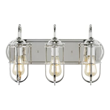 Feiss Urban Renewal 3-Light Bathroom Vanity Light in Polished Nickel