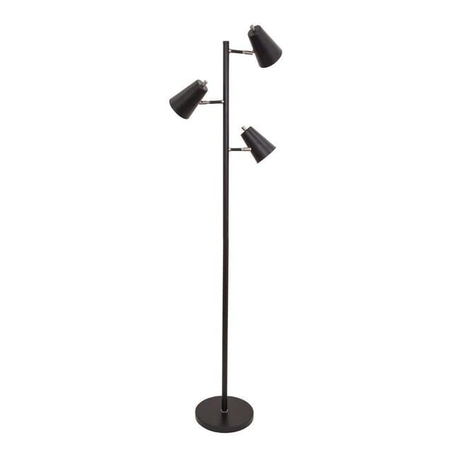 House Of Troy Kirby 64 3 Light Adj Floor Lamp In Black Satin Nickel Lightsonline Com