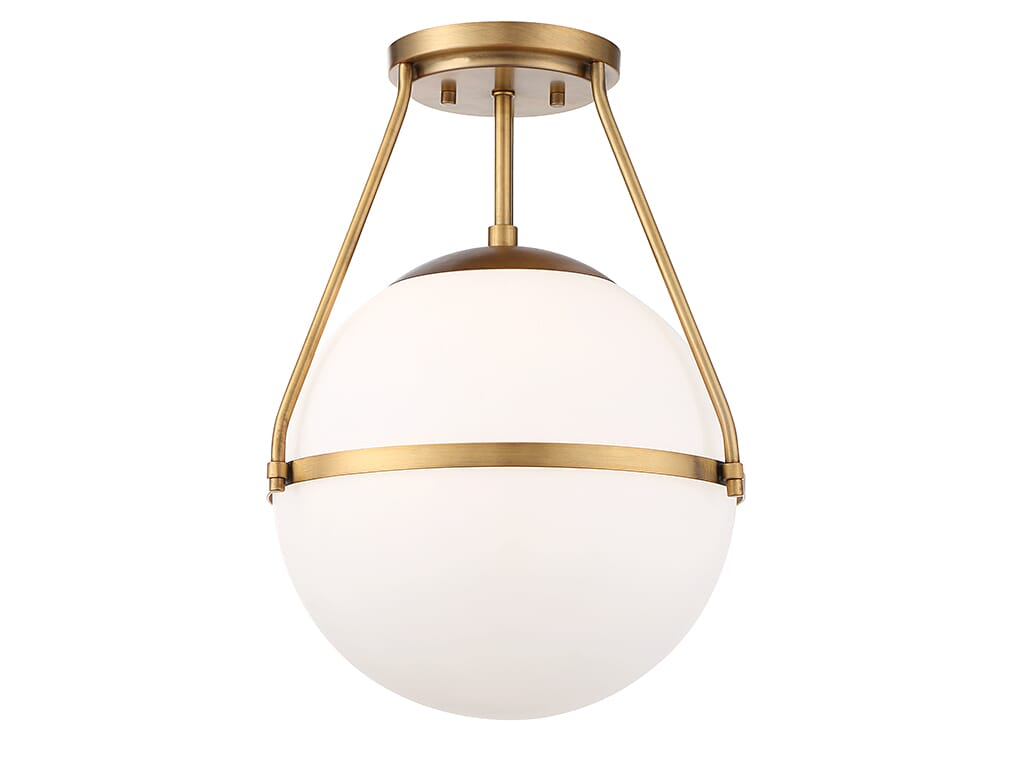 Trade Winds Hammond Ceiling Light In Natural Brass Lightsonline Com