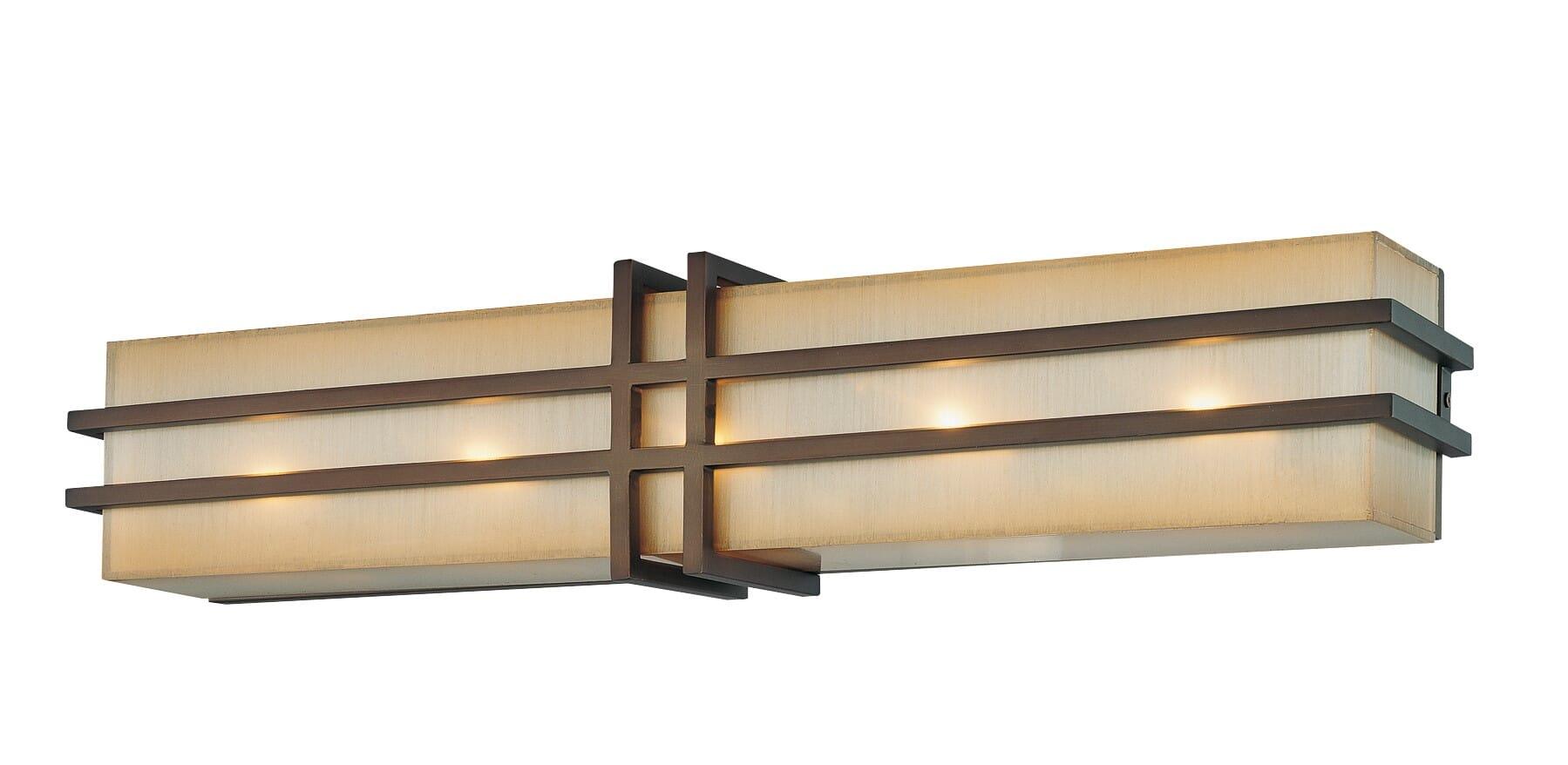 Metropolitan Underscore 25 5 Light Bathroom Vanity Lightroom Vanity Light In Cimmaron Bronze Lightsonline Com