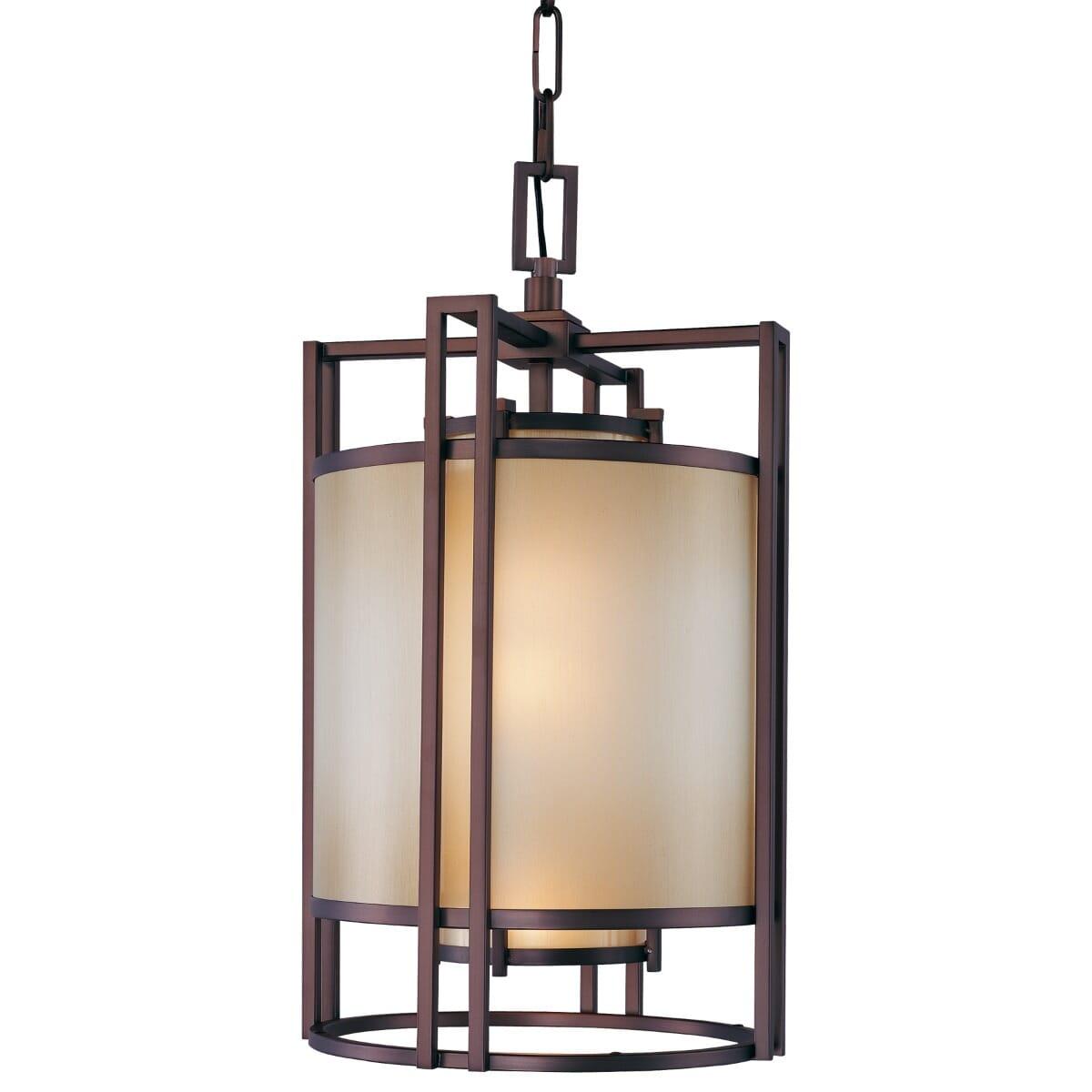Metropolitan Underscore Art Deco Pendant Light In Cimmaron Bronze Lightsonline Com
