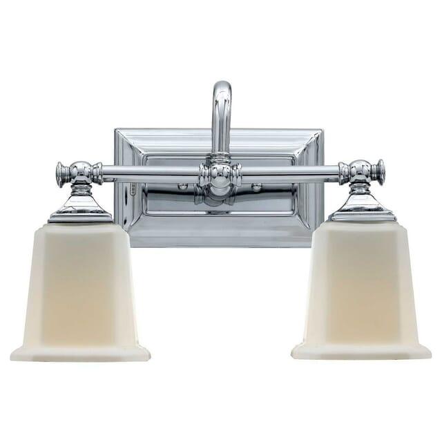 Quoizel Nicholas 2 Light Bathroom Vanity Light In Polished Chrome Lightsonline Com
