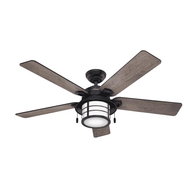 Hunter Key Biscayne Ceiling Fan Model 59135 in Weathered Zinc