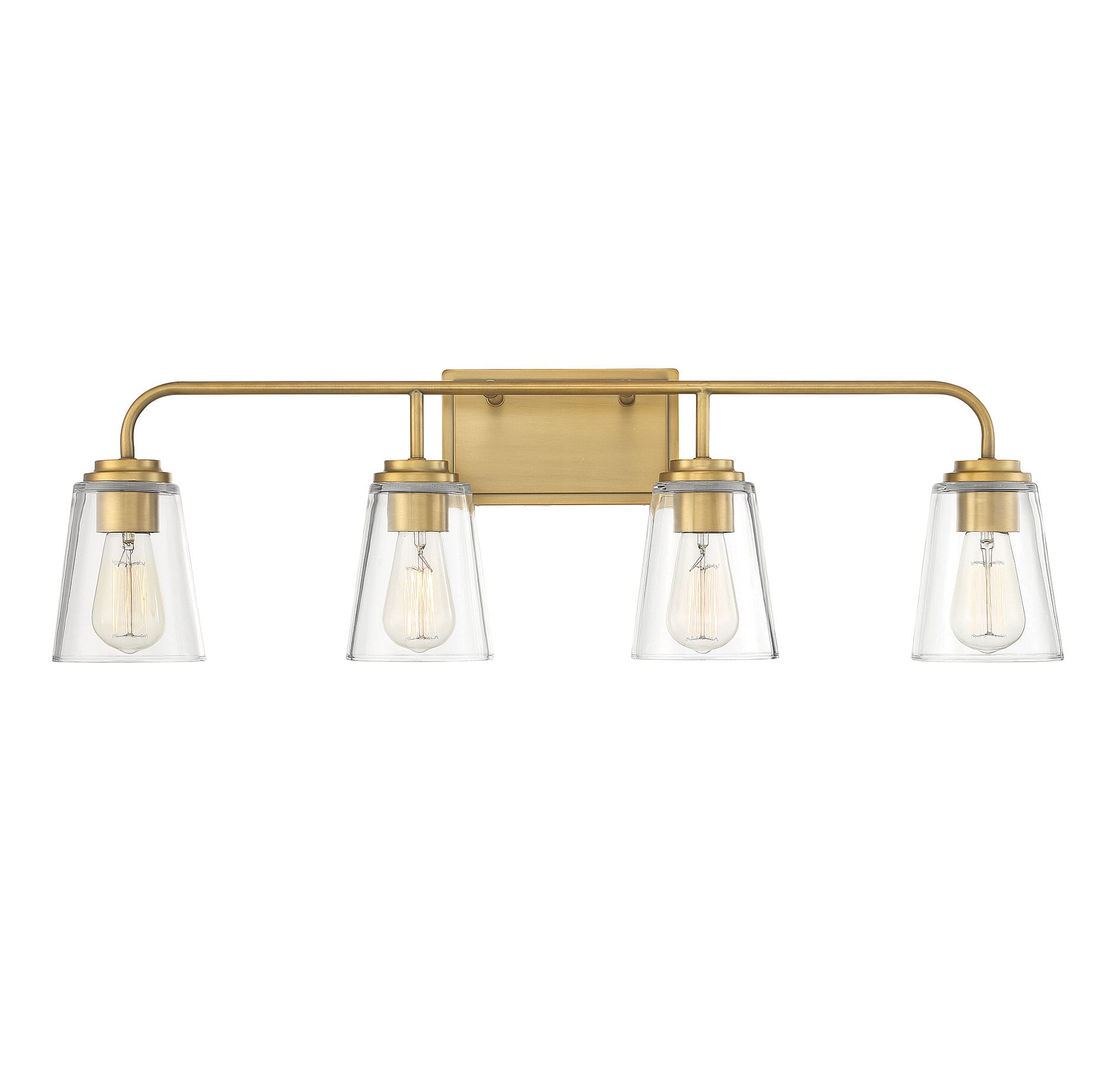 Trade Winds Wickford 4 Light Bathroom Vanity Light In Natural Brass Lightsonline Com