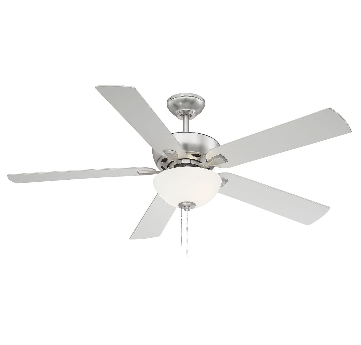 Trade Winds Berkeley Lake 52 Led Ceiling Fan In Brushed Nickel Lightsonline Com